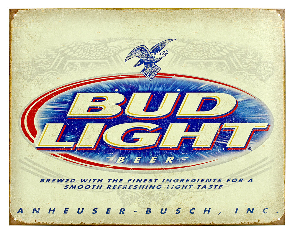 Bud Light Tin Sign