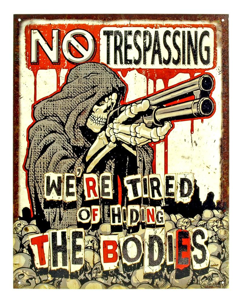 No Trespassing - Tin Sign