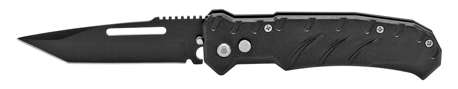 4.75 in Metallic Switchblade - Black