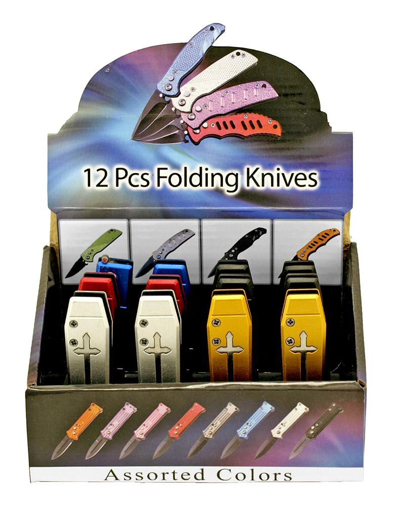 12 - pc. Folding Knife Display Set