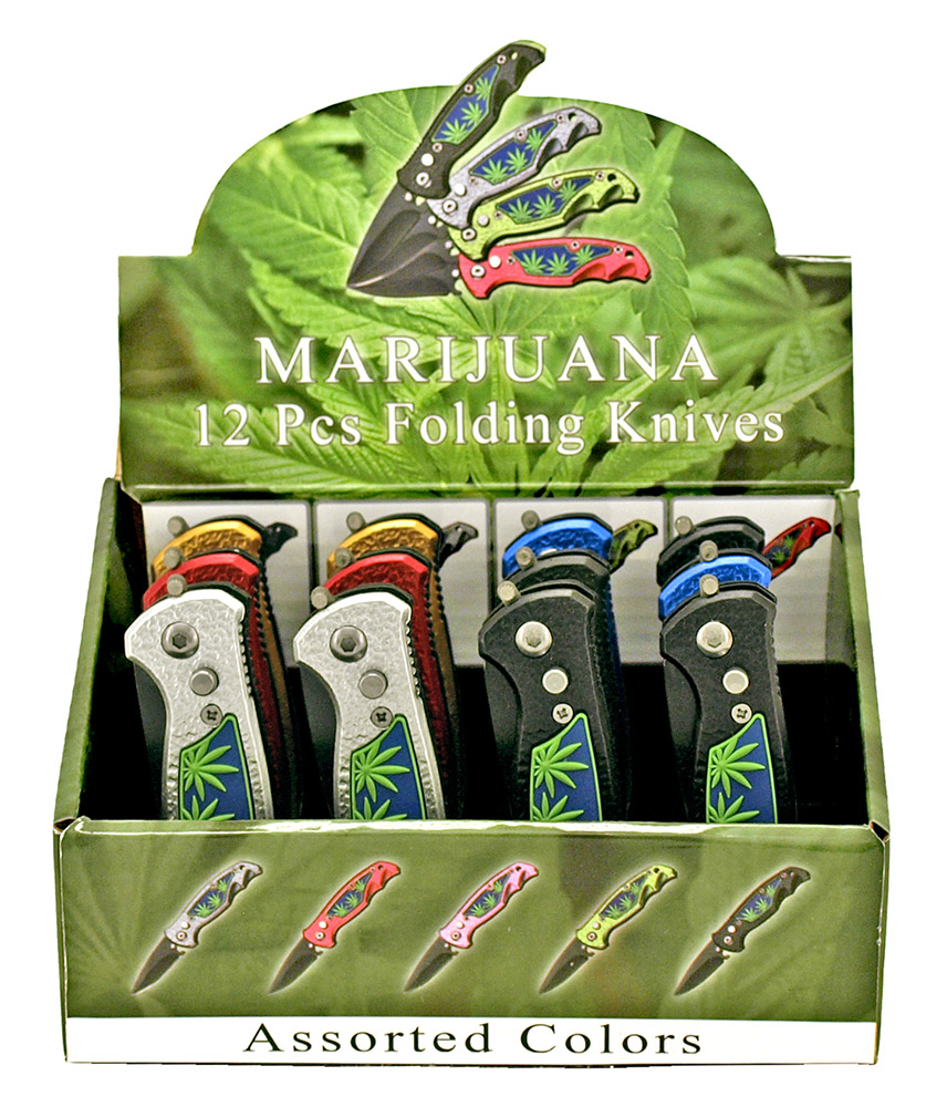 12 - pc. Leaf Knife Display Set