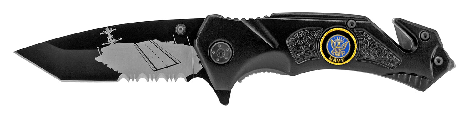 4.5 in Tactical Navy Pocket Knife