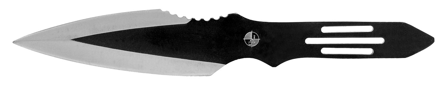 3 - pc. Slotted Throwing Knife Set - Black