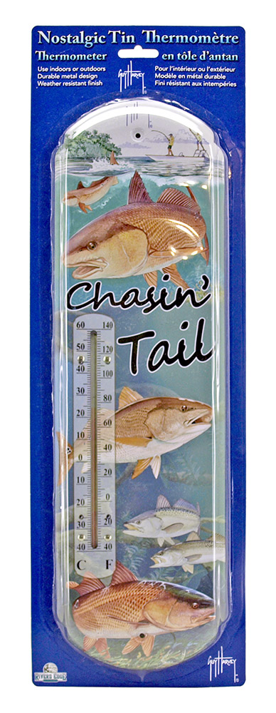 Guy Harvey Chasin' Tail Tin Thermometer