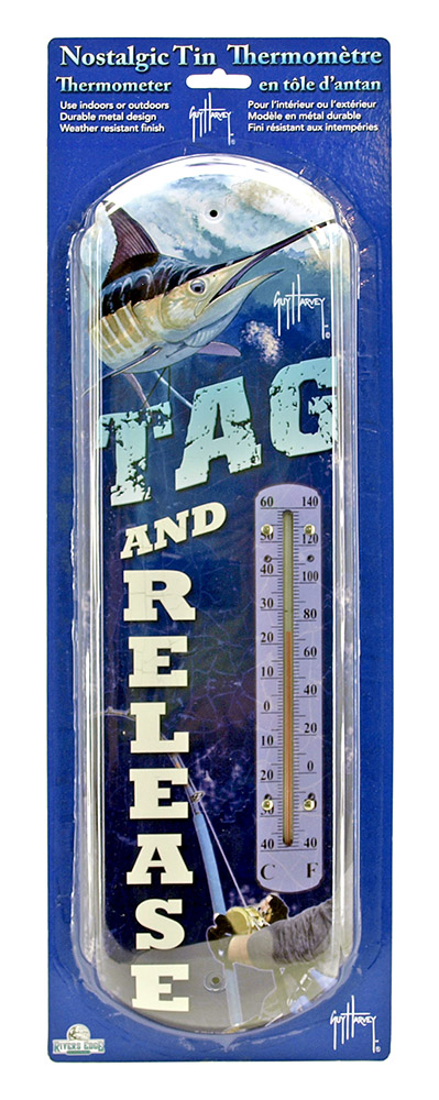 Guy Harvey Tag and Release Tin Thermometer