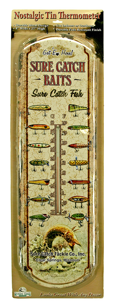 Sure Catch Baits Tin Thermometer