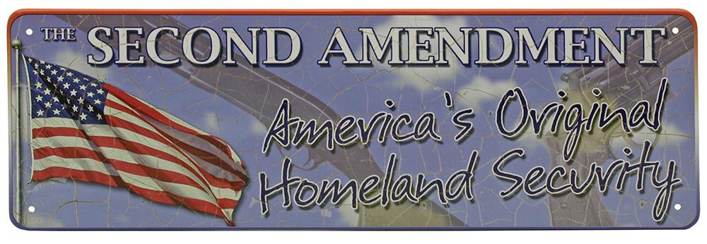2nd Amendment - Homeland Security Mini Tin Sign