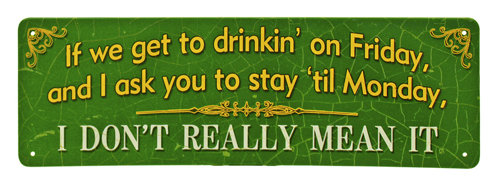 Drinkin' on Friday Mini Tin Sign