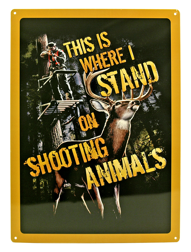 Shooting Animals Tin Sign