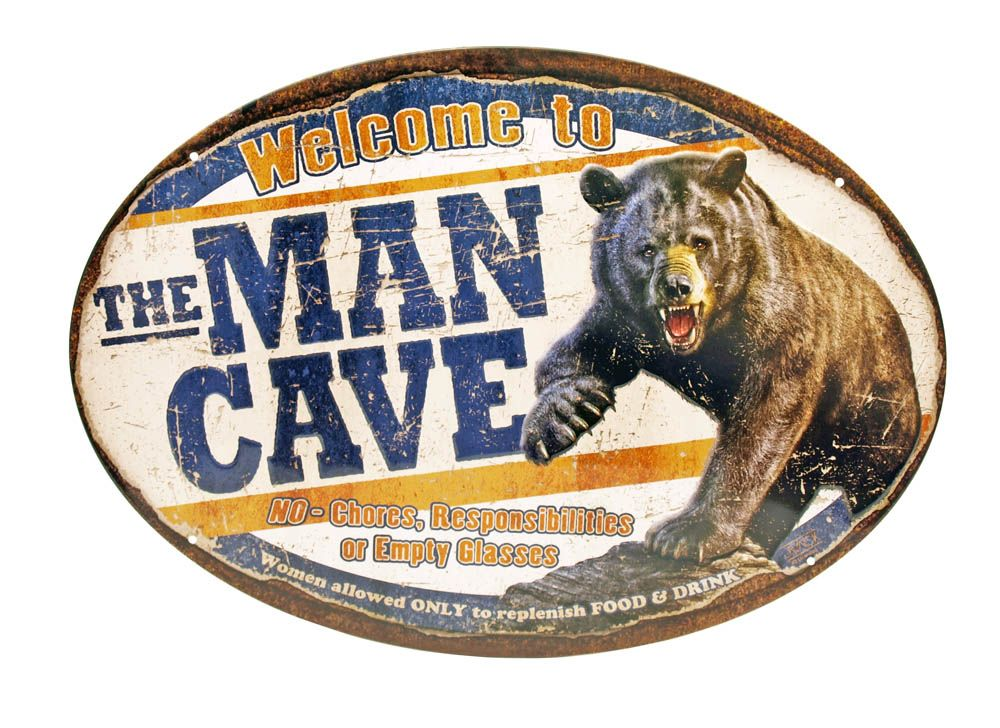 Man Cave Tin Signs : Man cave beer hot chick advertising plaques metal tin plate poster