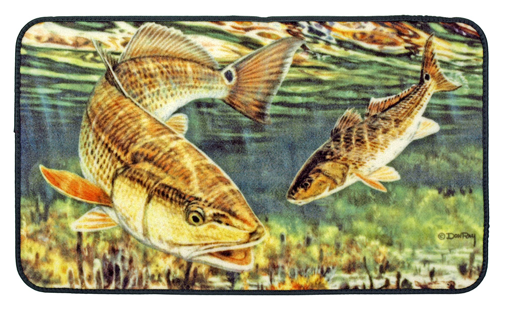 Saltwater Red Fish Floor Mat