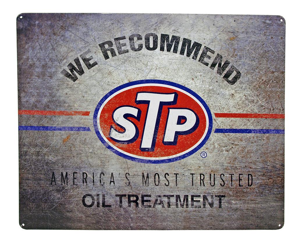 STP Oil Treatment Tin Sign