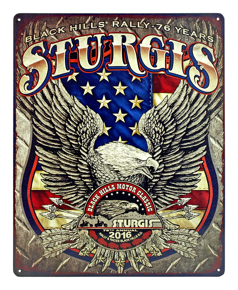 Sturgis Motor Classic Rally - Tin Sign
