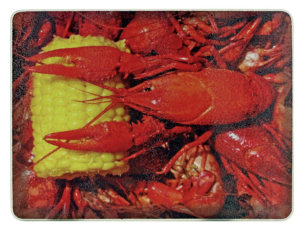 Crawfish Glass Cutting Board