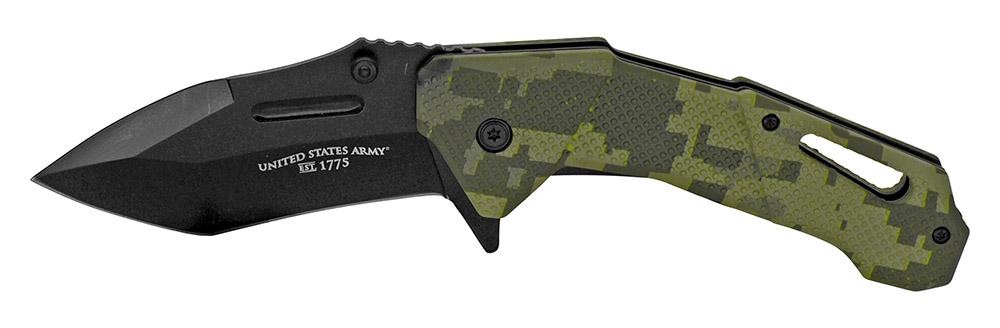 5 in Spring Assisted U.S. Army Folding Knife - Digital Camo