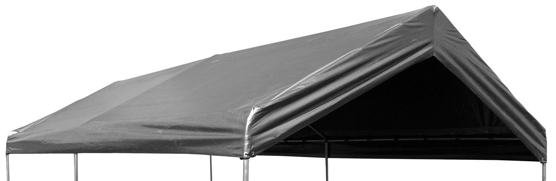 20 x 40 Valance Canopy Tarp - Silver