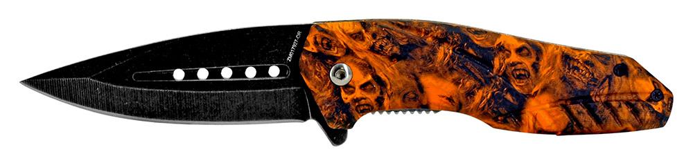 4.5 in Spring Assist Folding Knife - Orange