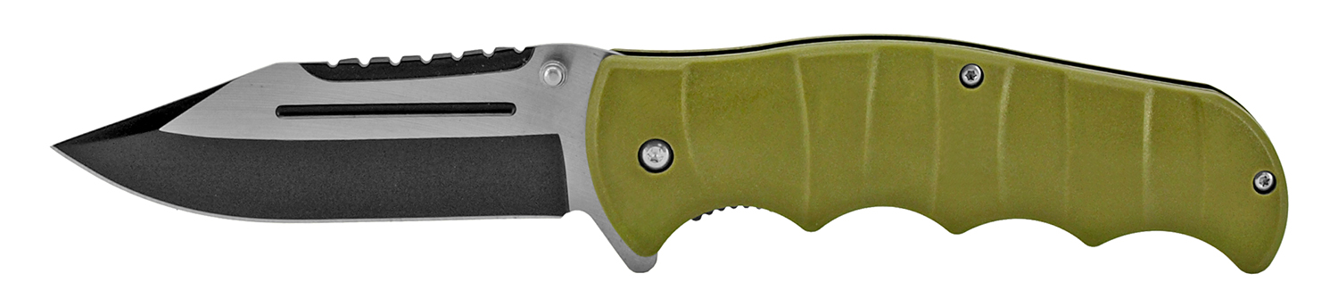 4.88 in Classic Folding Knife - Olive Green