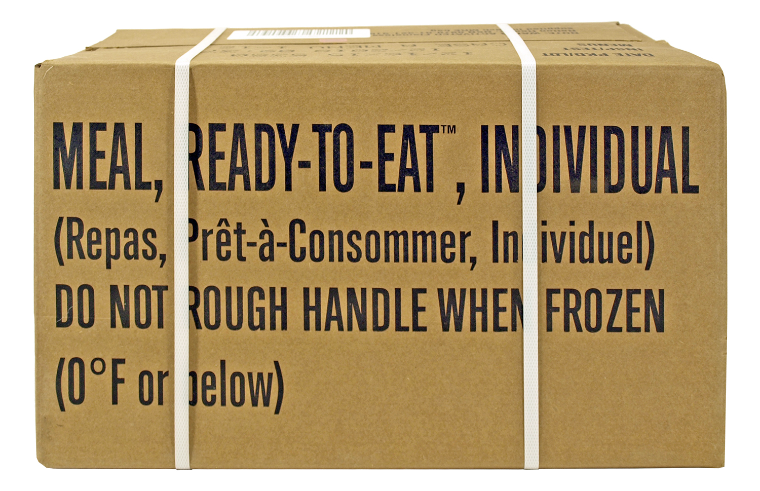 Box of 12 Government Issue Meals Ready to Eat (MREs)
