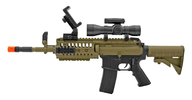 Galaxy G70AR Interactive Video Game App Spring Powered AR15 Airsoft Assault Rifle - Desert Tan