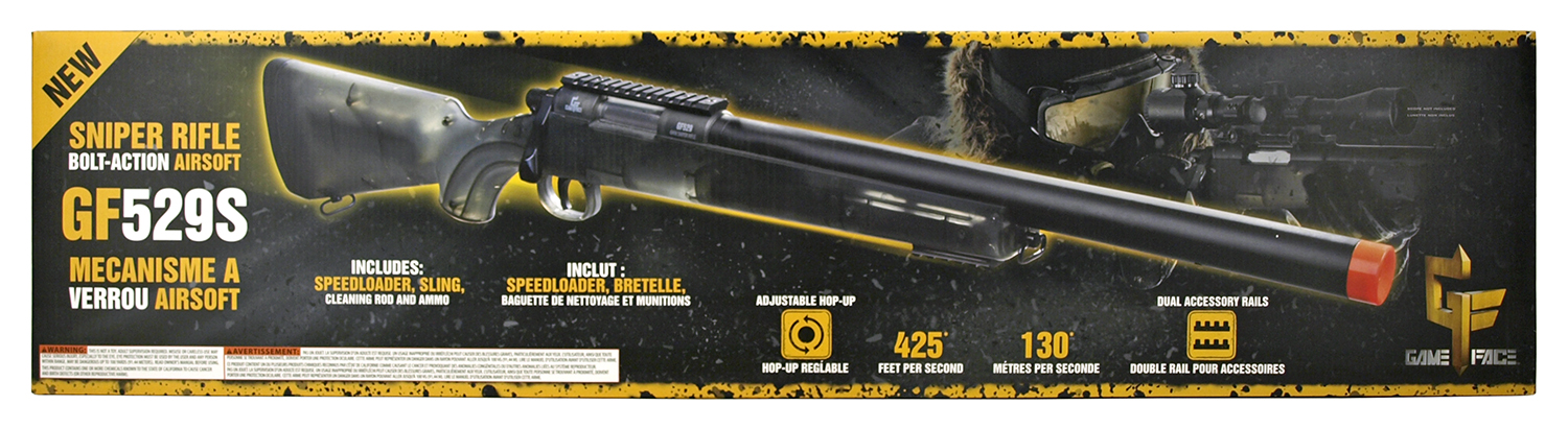 Game Face Bolt-Action Airsoft Sniper Rifle GF529S