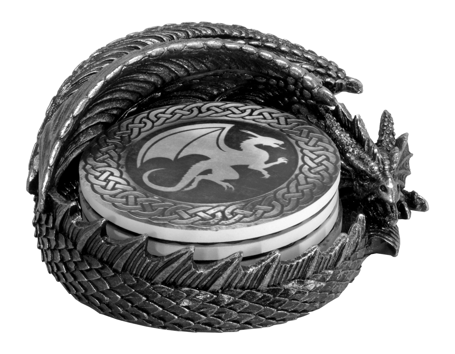 Protect and Serve - Dragon Coaster Holder Figurine