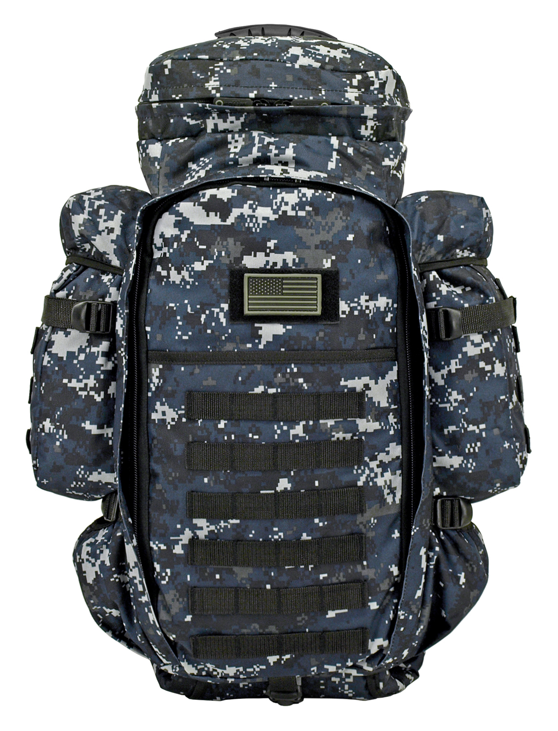 East West 9.11 Tactical Full Gear Rifle Backpack - Blue Digital Camo