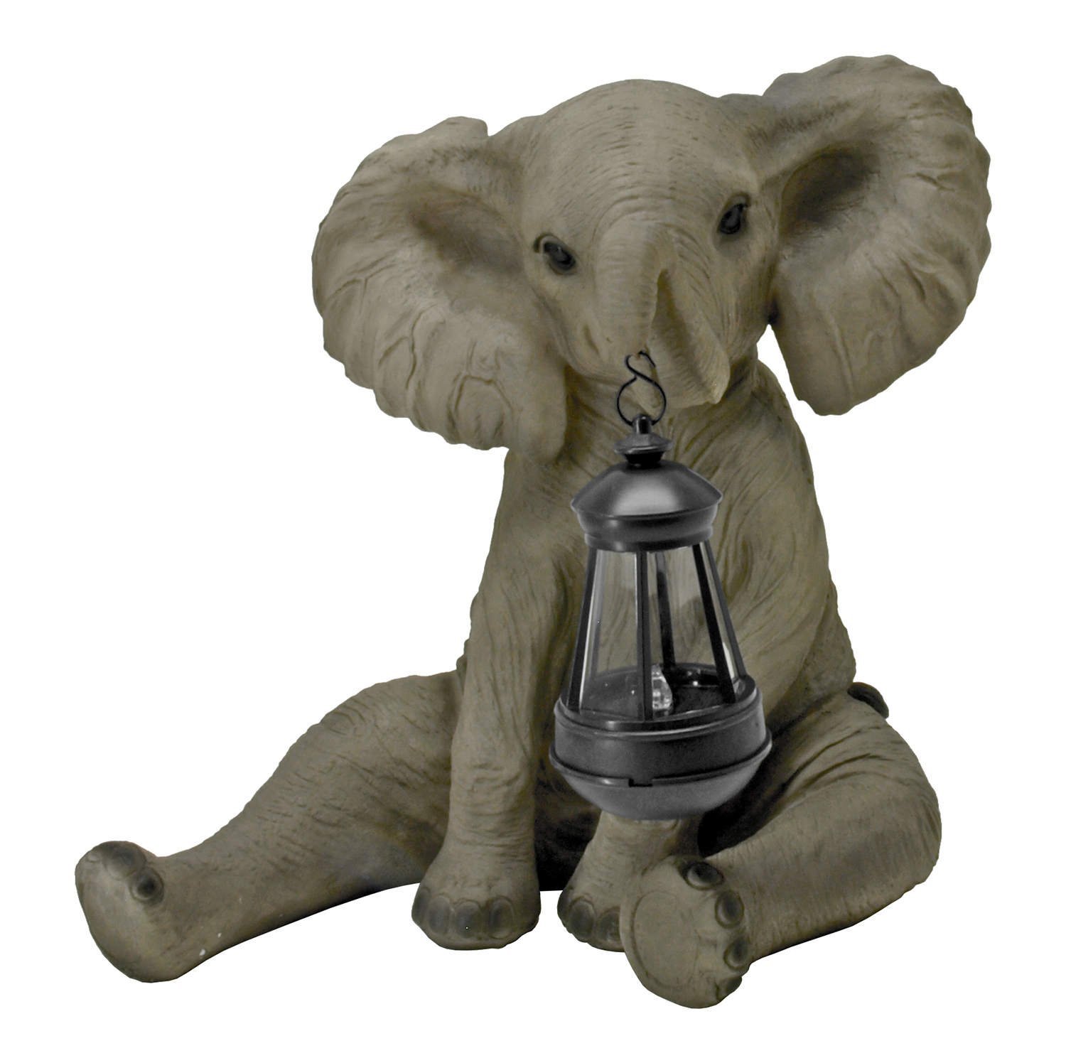 Lucky Light - Elephant Solar Lantern Light Figurine Statue