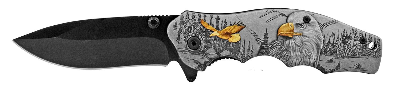 4.5 in The Original Folding Pocket Knife with Belt Clip - Eagle