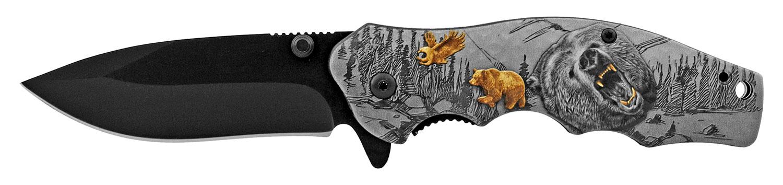 4.5 in The Original Folding Pocket Knife with Belt Clip - Bear