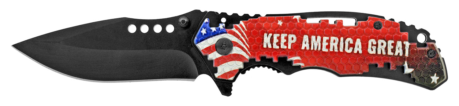4.75 in Keep America Great President Trump 2020 Electoral College Election Race Folding Pocket Knife