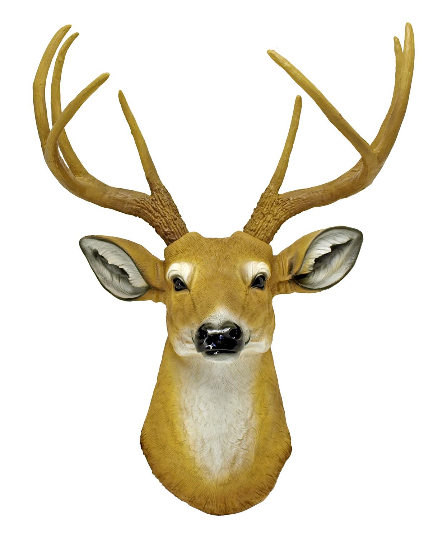 The Duke - Buck Deer Head Wall Mount Statue Figurine