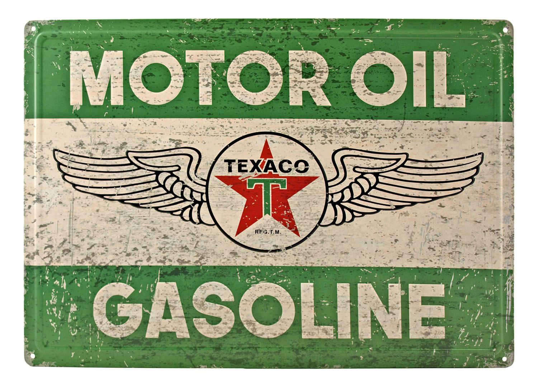 Retro Texaco Motor Oil Advertising Tin Metal Sign