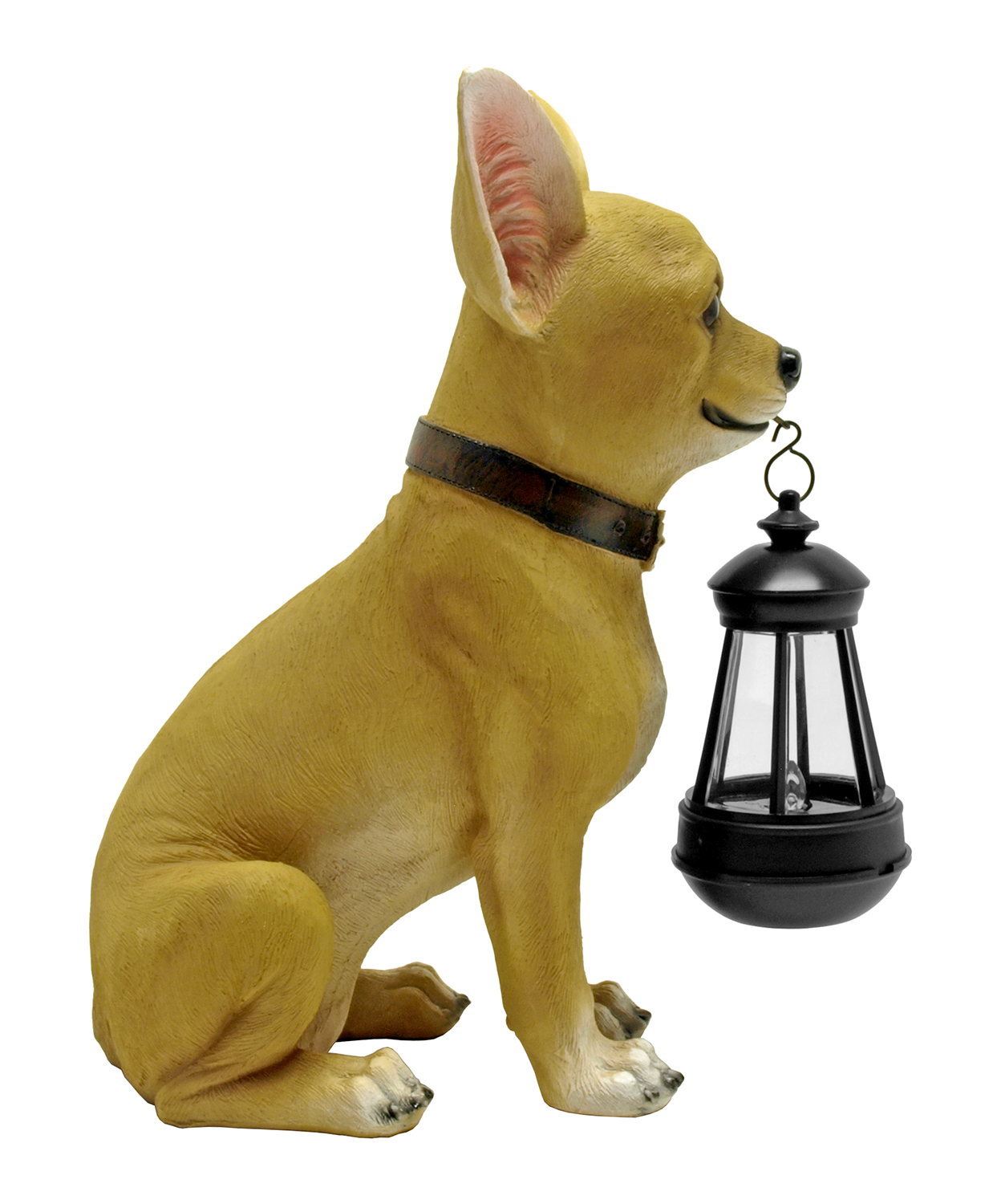 This Little Light Chihuahua Statue and Solar LED Lantern