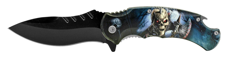4.75 in Large Folding Pocket Knife with Bottle Opener - Walking Dead