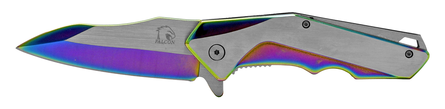 4.5 in Heavy Duty Stainless Steel Folding Pocket Knife - Titanium