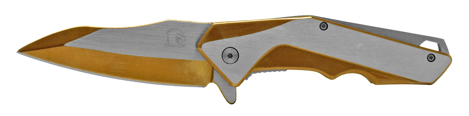 4.5 in Heavy Duty Stainless Steel Folding Pocket Knife - Copper
