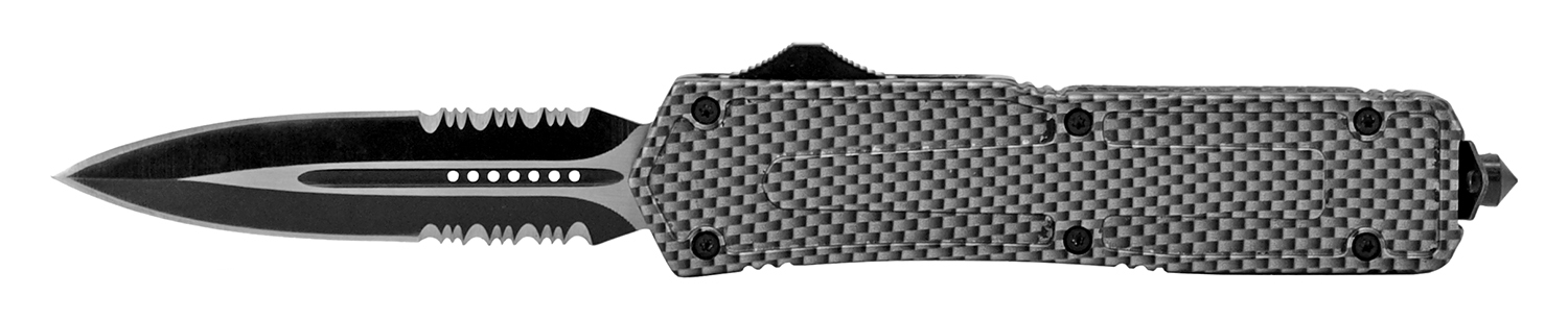 5.13 in Stainless Steel Out-the-Front Knife - Carbon Fiber