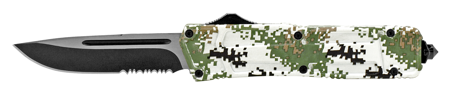 5.13 in Stainless Steel Out-the-Front Knife - Digital Camo