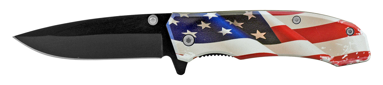 4 in Classic Style Folding Pocket Knife - United States of America Flag
