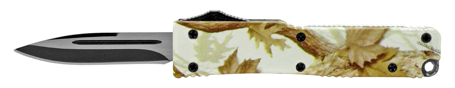 3.25 in Mini Out-the-Front Knife - Leaf Camo