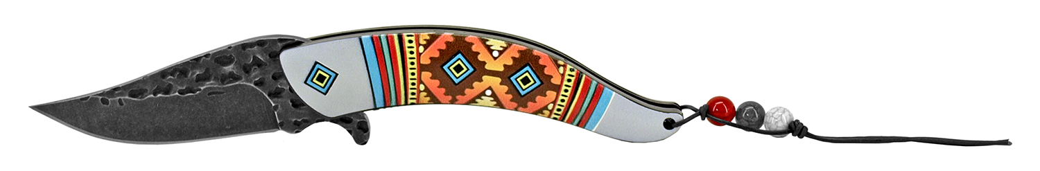 5 in Aztec Indian Design - Ivory