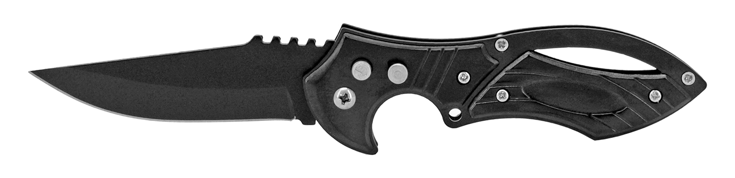 4.63 in Ultra Tech Stainless Steel Switchblade - Black