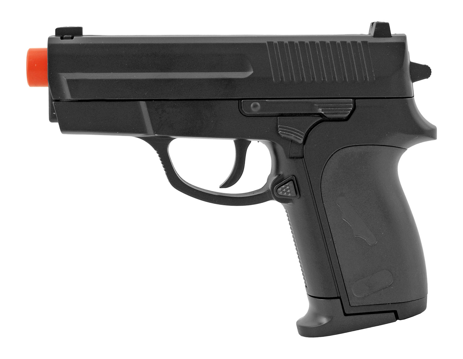 ZM01 Spring Powered Full Metal Airsoft 007 Style Pistol - Black