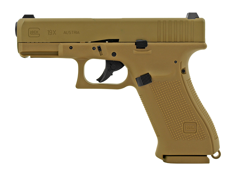 Glock G19X CO2 Powered.177 Cal. BB Gun with Blowback - Tan