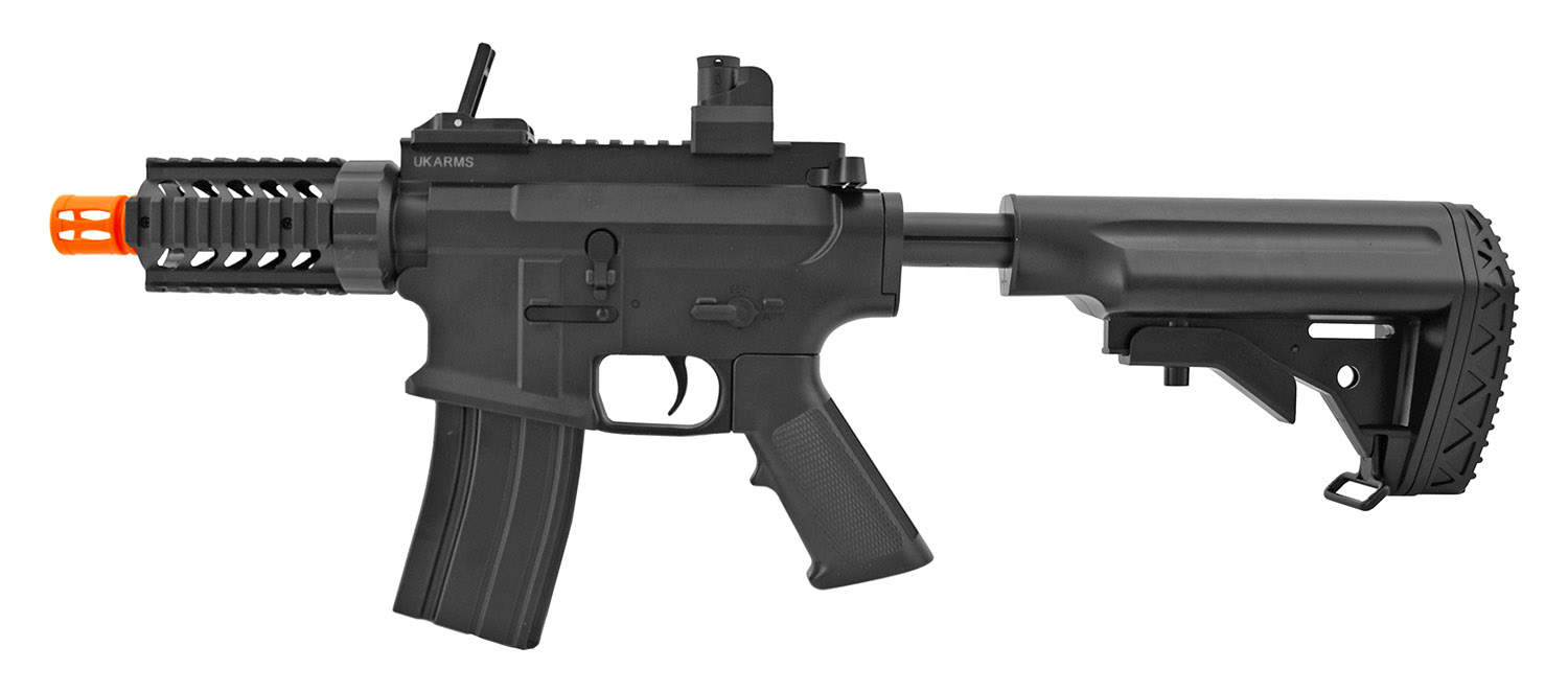 UK Arms P2202 Spring Powered Airsoft Assault Rifle with Adjustable Stock