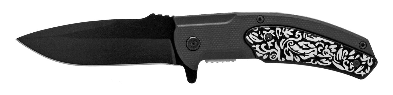 4.75 in Surfer Style Folding Knife - Silver