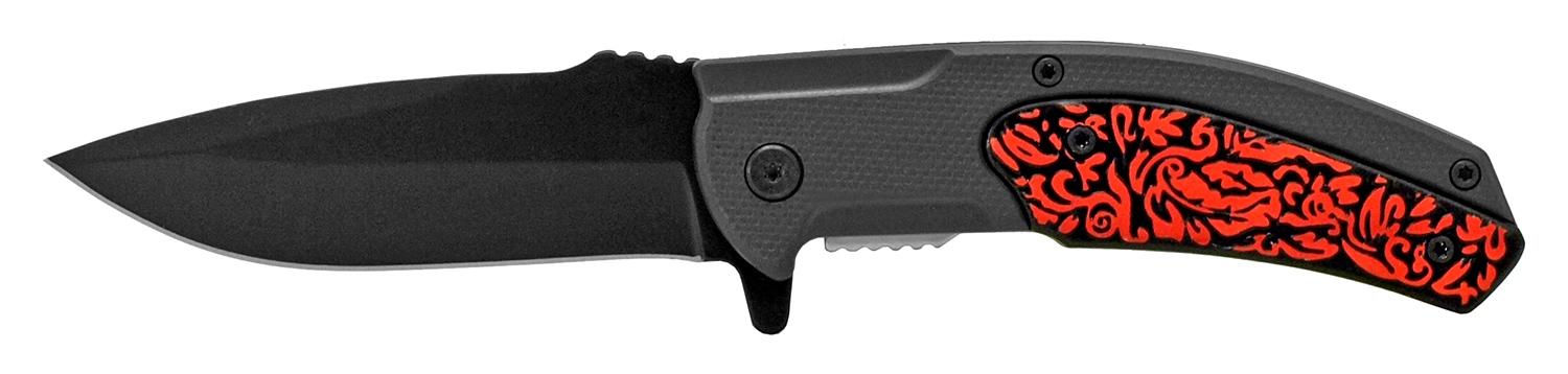 4.75 in Surfer Style Folding Knife - Red