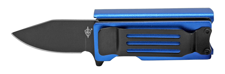 2.63 in Lighter Holder and Pocket Knife Combo - Blue