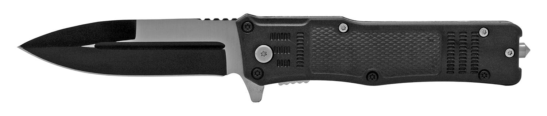 5 in Tech Spec Folding Pocket Knife with Glass Breaker - Black